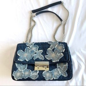 MICHAEL KORS Denim Quilted Purse